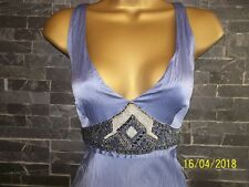 PRINCIPLES Long Blue Silk Dress  uk10 Summer Holiday Stunning Dip Dye