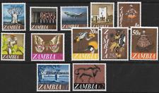 Zambia 1968 Definitive Set SG129-140 Superb MNH