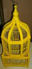 New listing Antique Vintage 40s-50s Handmade Wood & Wire Hanging Bird Cage House Cool Yellow