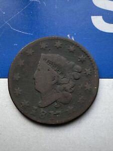1817 Philadelphia Mint Matron Head Large Cent Good Condition 13 Stars