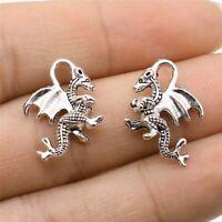 10pcs Charms Drachen machen Anhänger Vintage tibetischen Silber Bronze DIY