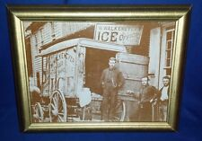 Framed Walkenmeyer's ICE delivery Carriage Harrisburg,Pa 19c Photo sepia PRINT