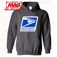 USPS LOGO POSTAL CHARCOAL HOODIE Employee Sweatshirt United States Post Office