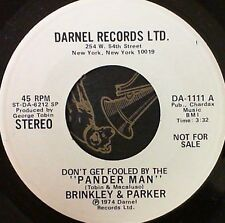 Funk 45 Brinkley & Parker Pander man NM- Promotional Copy Darnel 1111