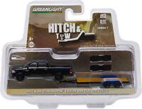 Greenlight Hitch N Tow 7 2015 Dodge Ram Pickup Mopar Flat Bed Trailer