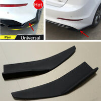 ABS Universal 2pcs Anti-Scratch Car Rear Bumper Lip Diffuser Splitter Canard