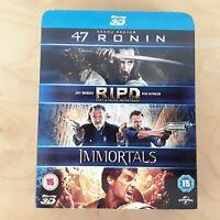47 RONIN / RIPD / IMMORTALS 3D BLU-RAY REGION FREE BOX SET FREE P&P