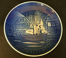 Vintage * Royal Copenhagen Denmark B & G * Blue * Christmas Welcome Plate * 1976