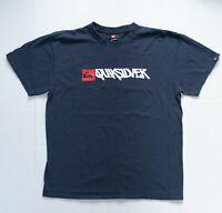 Quiksilver Shirt Men Size Large Adult Men Surfer Tshirt Blue Tee Short Sleeve L