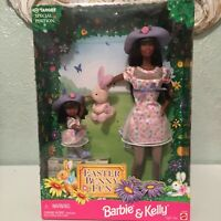 Mattel Barbie And Kelly Doll • Easter Bunny Fun Gift Set Target Special 1998 AA