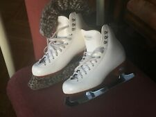 Riedell Ladies 3½M Figure Skates w/John Wilson Majestic Blade Made in Sheffield