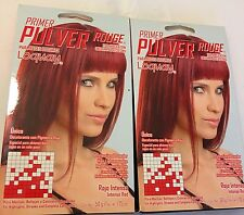 (2)Primer Pulver Loquay Rouge Para Bases Oscuras Rojo Inte(Pack of 2) 1.75 Oz