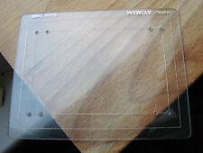 Mamiya formato Misuratore 6x7 6x9 108 x 85 graffiato in plastica