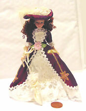 1:12th Victorian Lady In A Red & White Dress With Stand Dolls House Miniature K