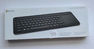 Microsoft All-in-One Media Keyboard Wireless Windows Computer PC SPANISH NEW!