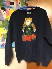 Vintage Lee Scarecrow Crewneck Sweatshirt L Navy Blue 50/50 Pumpkin Patch Fall