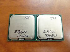 Matched Pair of Intel 2 Duo E8600 Processors   LGA775