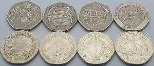 Every Isle of Man 20p coin issued - Circulated