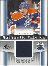 Jordan Eberle 2013-14 Upper Deck UD SP Game Used Authentic Fabrics Jersey Oilers