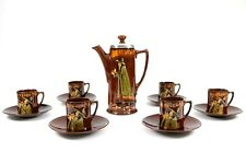 More details for royal doulton silver pied piper kingsware coffee service circa 1908