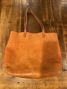 Madewell Vtg Brown Leather Large Shoulder Bag Handbag Tote $148