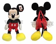 """DISNEY'S X LARGE PLUSH BACKPACK! MICKEY MOUSE RED SOFT BOYS STUFFED DOLL 24"""" NWT"""