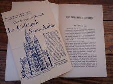 UNE PROMENADE A GUERANDE VILLE HISTORIQUE COLONNA 1934  COLLEGIALE SAINT AUBIN