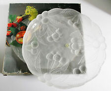"""BOUNTIFUL Frosted Crystal Buffet Platter by Mikasa 12"""" Round in Box RC149/313"""