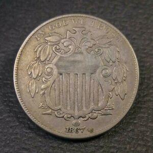 1867 Shield Nickel VF