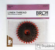 BIRCH Linen Thread - 20 Metres - Brown
