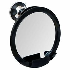 Shatterproof Fogless Shaving Shower Mirror with Suction Cup and Razor Holder