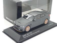 Nuevo 1:43 Minichamps BMW M4 GTS F82 Turbo Seis Ruedas De Cilindro Coupe Gris Dorado M3