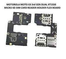MOTOROLA MOTO G3 3rd GEN DUAL XT1550 MICRO SD SIM CARD READER HOLDER FLEX BOARD