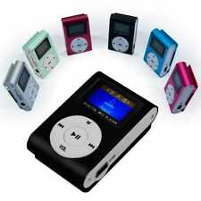 Metall Clip MP3 Stereo schwarz Mini Player FM Radio LCD Display Kartenleser