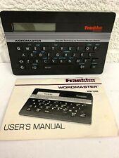 Franklin Wordmaster Wm-1000 Pocket Electronic Speller Thesaurus 80,000 Words