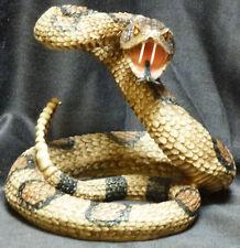 Snake Eyes  Statue Figurine DWK Western Diamond Back Rattlesnake