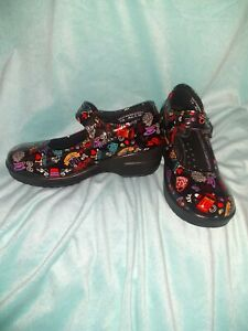 Easy Works By Easy Street Womens Mary Jane Clogs Shoes Sz 6.5 Slip-resistant