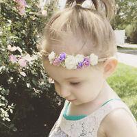 Baby Girls Toddler Kids Flower Crown Headband Hairband Photo Prop Wedding Decor