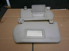 NISSAN ALMERA N16 2002 PAIR OF SUN VISORS WITH 2 MIRRORS & CLIPS