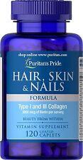 Puritan's Pride Hair Skin & Nails Formula-120 Caplets Vitamin Supplement