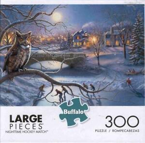 James Megar 300 Pc Buffalo Games Jigsaw Puzzle Nighttime Hockey Match NIB