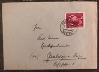 1945 Geislingen Germany Cover Domestic Used Air Force Stamp