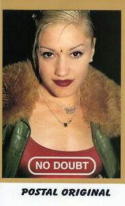 NO DOUBT (1) POSTAL OFICIAL. NUEVA SIN SELLAR. UK OFFICIAL POSTCARD. NEW. Y