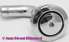 Marine Boat Stainless 90 deg Thru Hull Flush Mount Fuel Tank Vent 5/8 hose barb