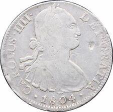 Mexico 8 Reales Mo 1804 T.H. Carolus IIII, KM# 109