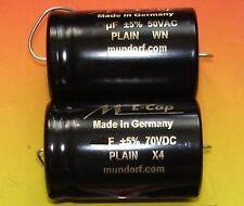 2x Mundorf Elko lisse 47µf Audio Condensateur 1 pair Capacitor