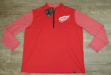Fanatics Detroit Red Wings Pullover 1/4 Zip Tech Jacket Sweatshirt Men's 3Xl
