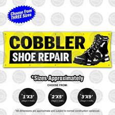 Cobbler Shoe Repair Banner Open Leather Boot Shine Sole Fix Sign Service Display