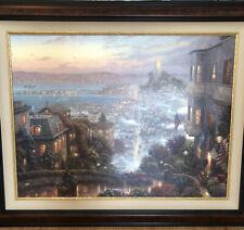 Thomas Kinkade San Francisco Lombard Street Painting 30� X 40� G/P