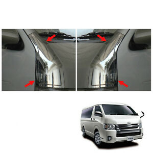 Front Door Low Pillar Cover Chrome Trim V1 For Toyota Hiace Commuter 2005 - 2017